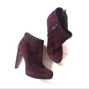 Sam Edelman Burgundy KIT suede ankle boots Sz. 5